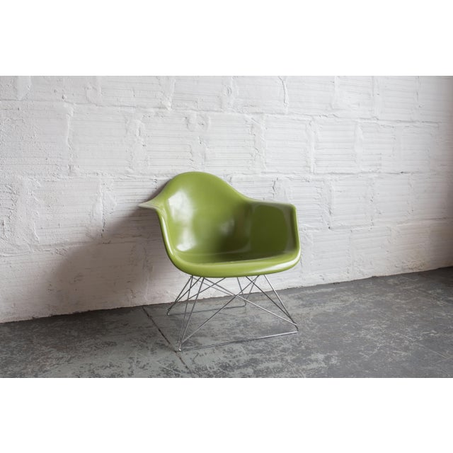 Image of Vintage Green Eames Armchair on Modernica Base