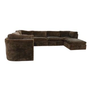 Milo Baughman for Thayer-Coggin Contemporary Chocolate Brown Sectional