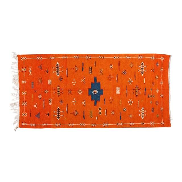 Orange Atlas Berber Rug - 3′1″ × 6′3″ - Image 1 of 3