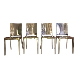 Phillipe Starck Polished Hudson Chairs - Set of 4