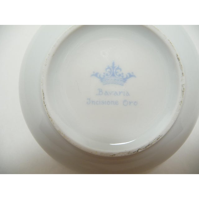 Vintage Round Dome Lid Porcelain Box Bavaria Classical Maidens With Cherub - Image 8 of 8