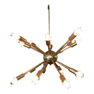 Vintage Mid Century Modern Sputnik Chandelier
