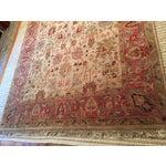 Image of Designer Wool Rug Cream & Red - 8' x 11'