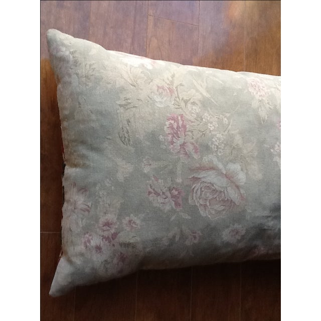 Large Silk Embroidered Pillow - Image 7 of 9