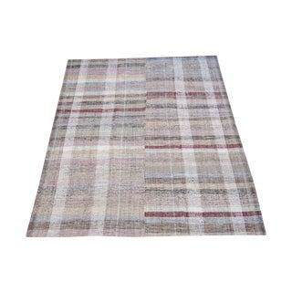 Vintage Turkish Handmade Flatweave Rug - 6′9″ × 9′8″