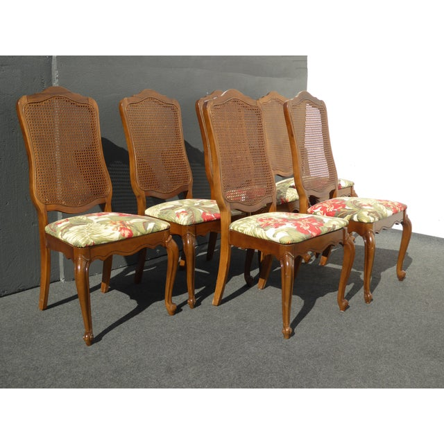 6 French Provincial Cane Back Dining Room Chairs Chairish