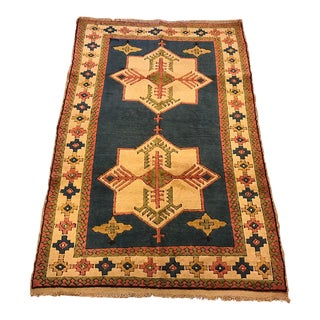 "Vintage Kars Turkish Rug - 4'7"" X 6'9"""
