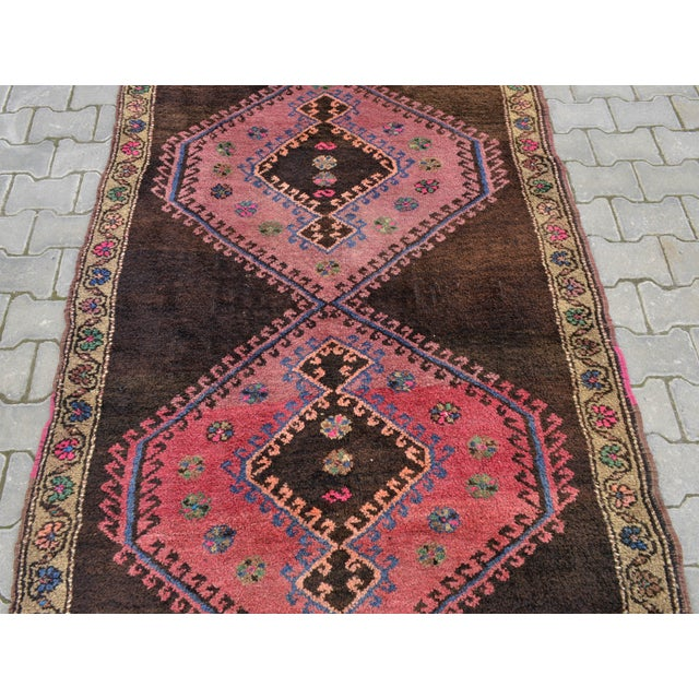 Hand Knotted Turkish Runner Rug - 4′6″ × 13′3″ - Image 8 of 11