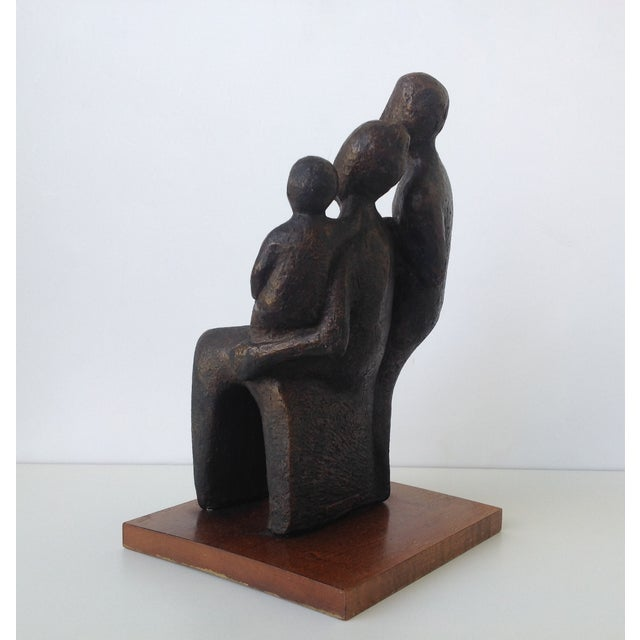 Image of C.1966 MDI Productions Couple & Child Sculpture