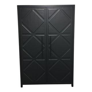 H.D. Buttercup Beatrice Matte Black Armoire