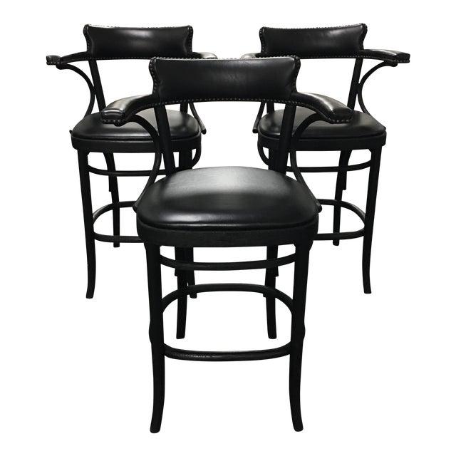 Restoration Hardware Vienna Cafe Barstools - Set of 3 - Image 1 of 10