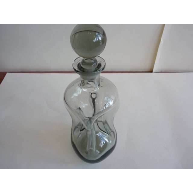 Mid-Century Smoked Glass Decanter - Image 3 of 6