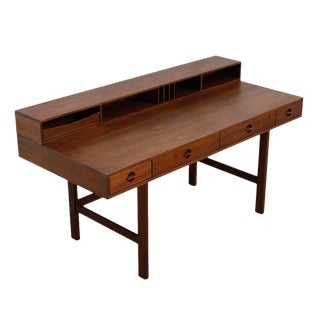 Lovig Danish Modern Expandable Walnut Partner Desk