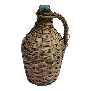 European Wicker Wrapped Demijohn