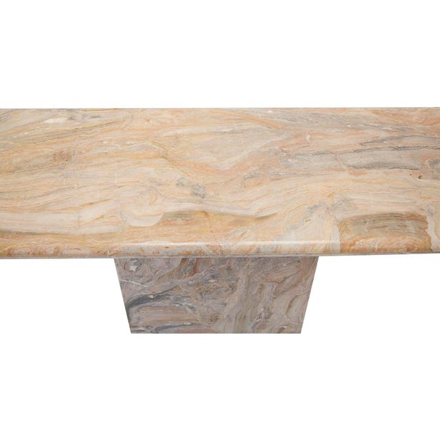 Variegated Marble Console Table - Image 3 of 10