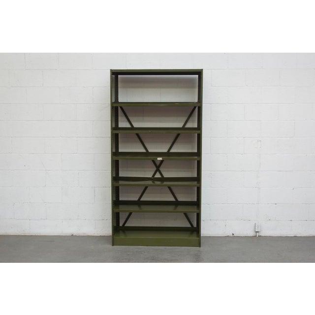 Industrial Military Sheet Metal Bookshelf - Image 2 of 10
