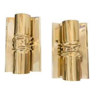 Brutalist Italian Brass Scones - A Pair