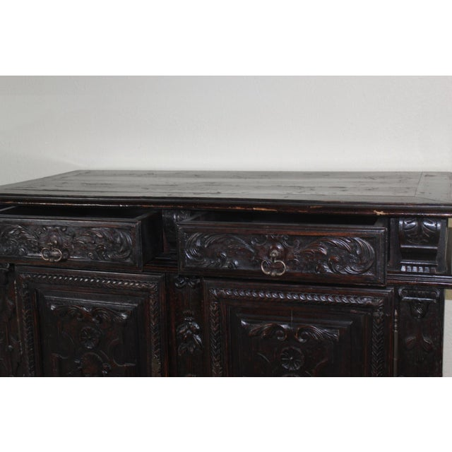 Antique 19th C. French Walnut Buffet - Image 4 of 5