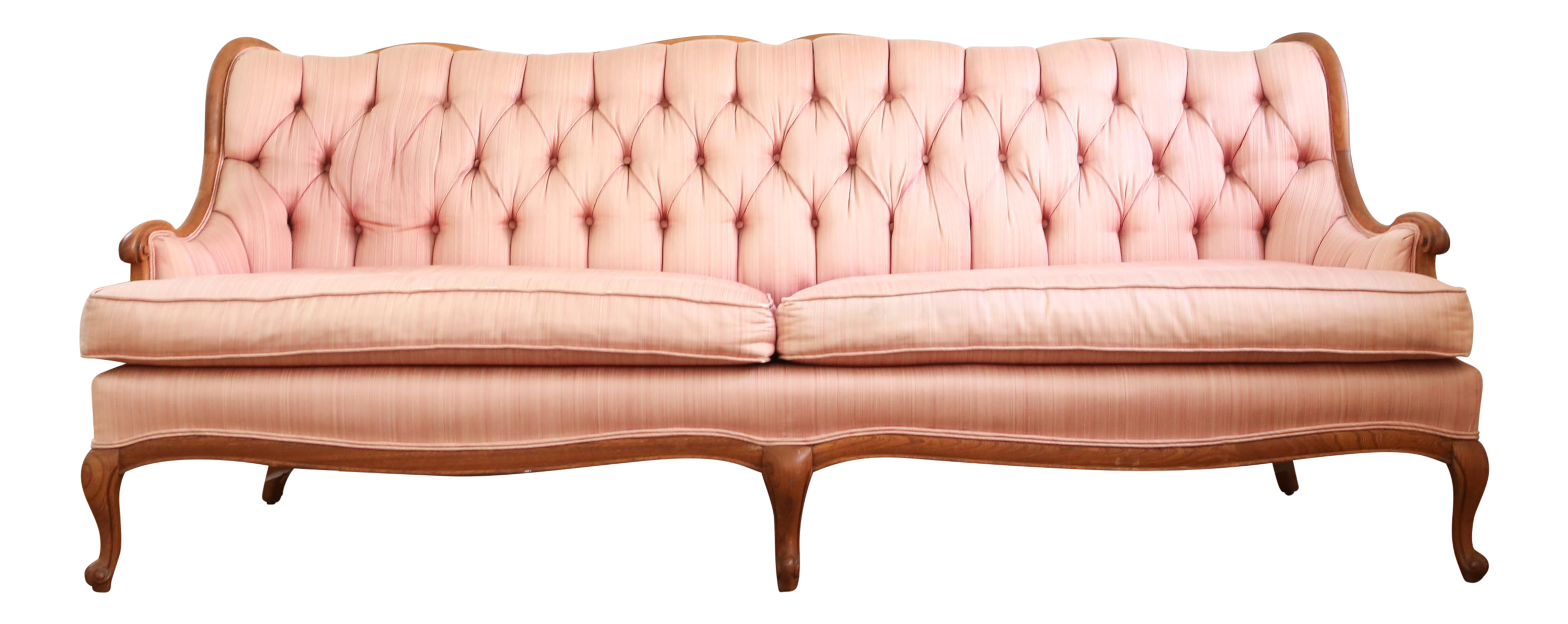 French Style Wood Frame Tufted Sofa