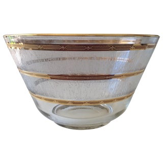 George Briard 22k Gilt Lg. Serving or Punch Bowl