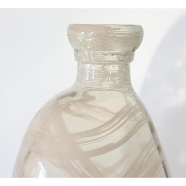 Image of Oversize Modern Art Glass Demijohn