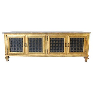 Gilded Credenza with Marble Top