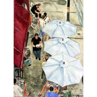 Giclee Print Looking Down On A Chicago Cafe