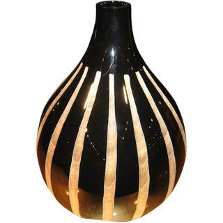 Pinstriped Carved Vase