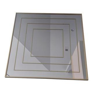 Modern Brass Inlay Square Mirror