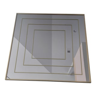 Modern Brass Op Art Mirror