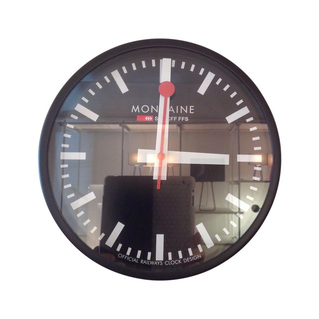 Swiss railway wall clock chairish - Swiss railway wall clock ...