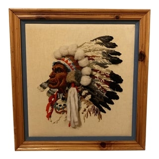 Framed Native American String Art