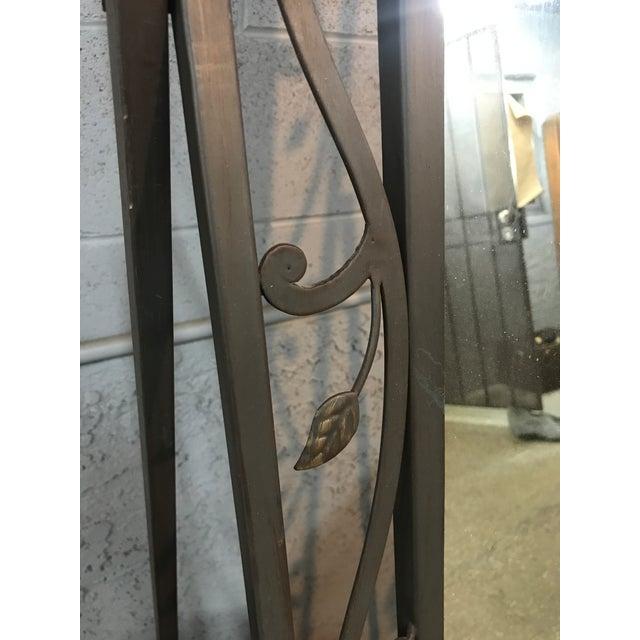 Metal Leaves Design Free Standing Mirror - Image 6 of 6