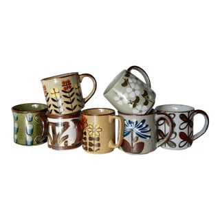 1970s Earthenware Mugs - Set of 7