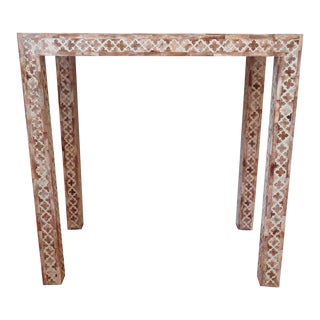 HD Buttercup Shell Inlay Trellis Console