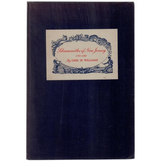 """Silversmiths of New Jersey, 1700-1825"" 1949 Book"