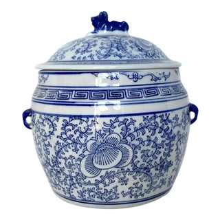 Foo Dog Blue & White Chinese Ginger Jar