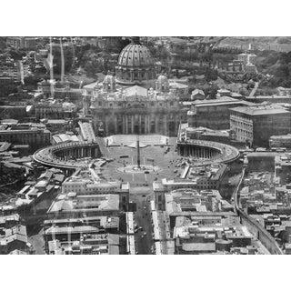 1950s Vatican City, Rome B&W Aerial Photograph