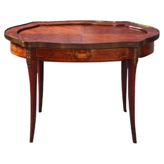 Vintage Neoclassical Walnut Side Table