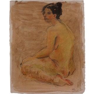 Female Nude Watercolor by Lois Davis