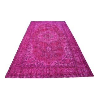 "Oriental Turkish Hot Pink Rug - 5'5"" x 9'5"""