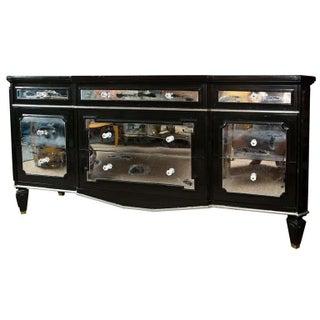 Ebonized and Mirrored Dresser