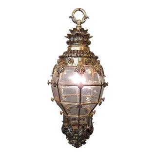 19th Century French Regence Bronze and Glass Lantern