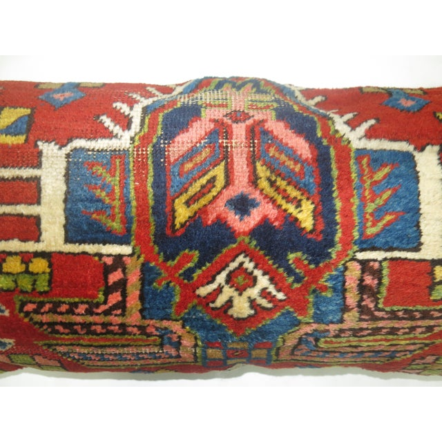 Antique Heriz Bolster Rug Pillow
