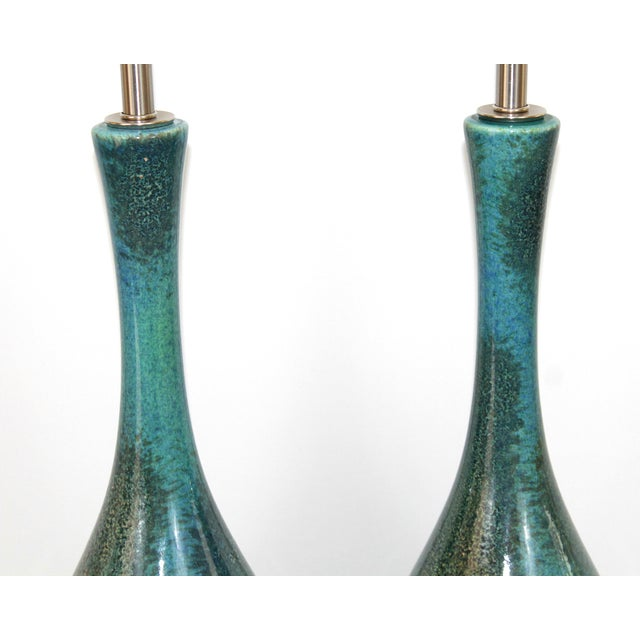 Royal Haegar Drip Glaze Lamps- A Pair - Image 4 of 5