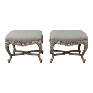 French Rococo Style Benches - A Pair