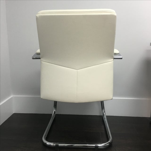 Modern Office Chairs in Vanilla - Set of 10 - Image 5 of 6