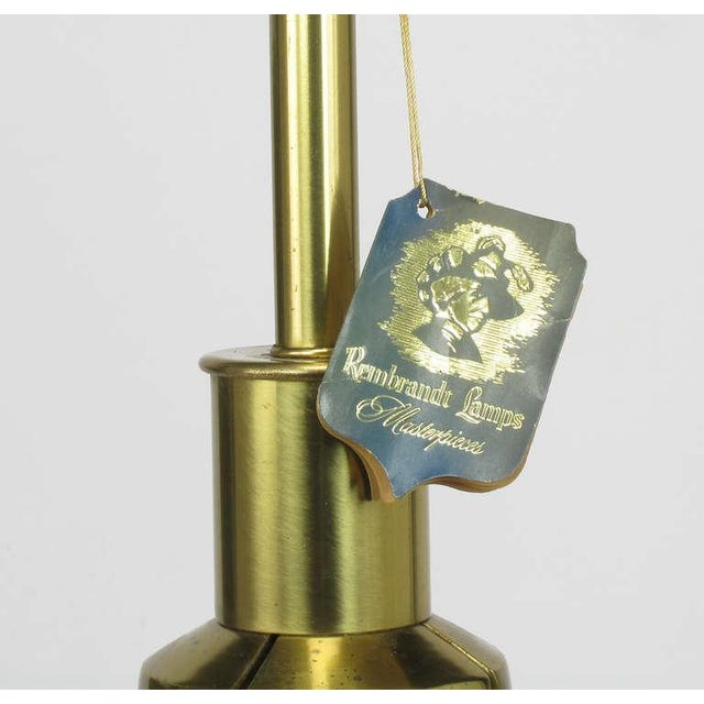 Rembrandt Brass & Azure Blue Table Lamp - Image 6 of 7