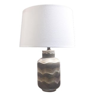 Mid-Century Glazed Ceramic Lamp - Summer Sand