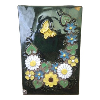 Mid-century Swedish Jie Gantofta Ceramic Wall Plaque